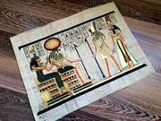 Эффектная картина на папирусе,  оригинал из Египта.